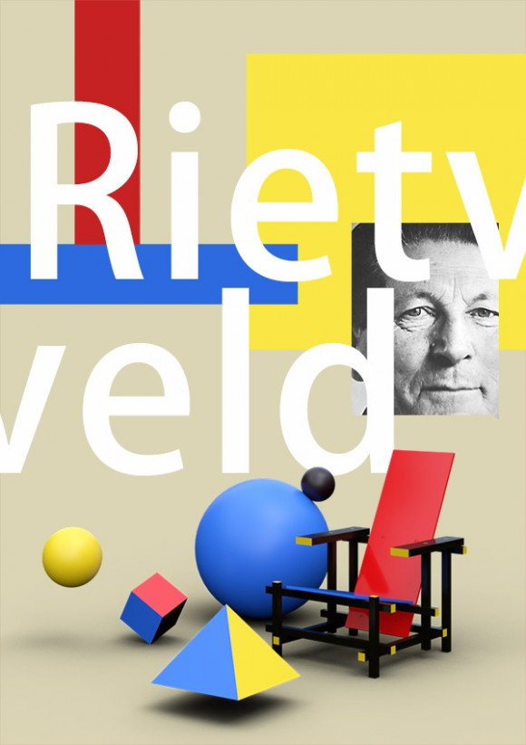 Rietveld rendus 3D Arnold